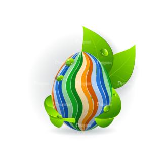 Vector Easter Elements 1 Vector Eater Egg 18 Clip Art - SVG & PNG vector