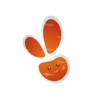 Vector Easter Elements 2 Vector Bunny 09 Clip Art - SVG & PNG vector