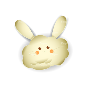 Vector Easter Elements 2 Vector Bunny 10 Clip Art - SVG & PNG vector