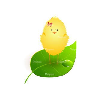 Vector Easter Elements 2 Vector Chick Clip Art - SVG & PNG vector