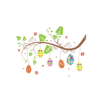 Vector Easter Elements 3 Vector Easter Tree 08 Clip Art - SVG & PNG tree