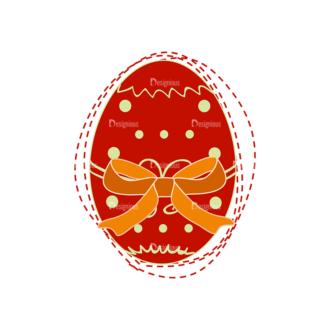 Vector Easter Elements 4 Vector Easter Egg 04 Clip Art - SVG & PNG vector