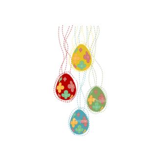 Vector Easter Elements 4 Vector Easter Egg 08 Clip Art - SVG & PNG vector