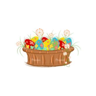 Vector Easter Elements 4 Vector Easter Eggs 06 Clip Art - SVG & PNG vector