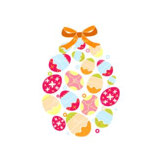 Vector Easter Elements 4 Vector Easter Eggs 10 Clip Art - SVG & PNG vector