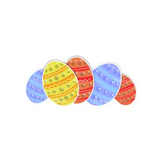 Vector Easter Elements 4 Vector Easter Eggs 11 Clip Art - SVG & PNG vector