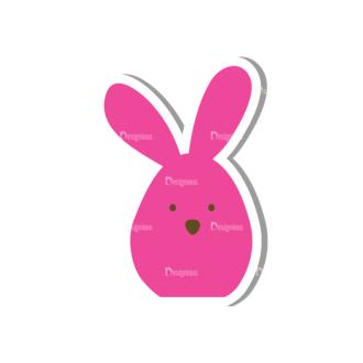 Vector Easter Elements 5 Vector Buuny 11 Clip Art - SVG & PNG vector