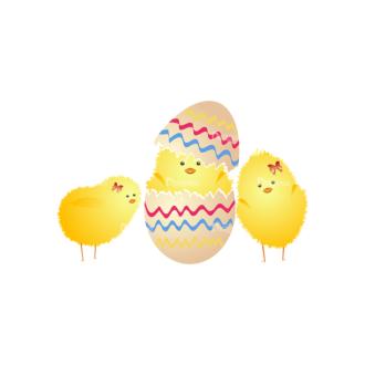 Vector Easter Elements 5 Vector Chick 18 Clip Art - SVG & PNG vector