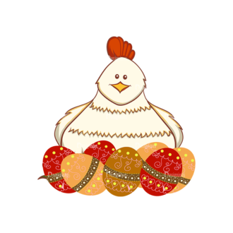 Vector Easter Elements 5 Vector Chicken Clip Art - SVG & PNG vector