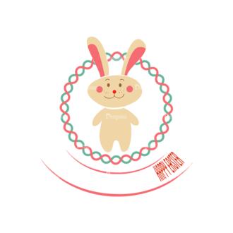Vector Easter Elements 6 Vector Bunny Clip Art - SVG & PNG vector