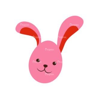 Vector Easter Elements 6 Vector Buuny 12 Clip Art - SVG & PNG vector
