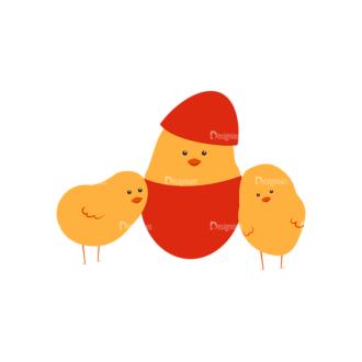 Vector Easter Elements 6 Vector Chicken 06 Clip Art - SVG & PNG vector