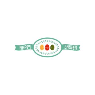 Vector Easter Elements 6 Vector Happy Easter 01 Clip Art - SVG & PNG vector