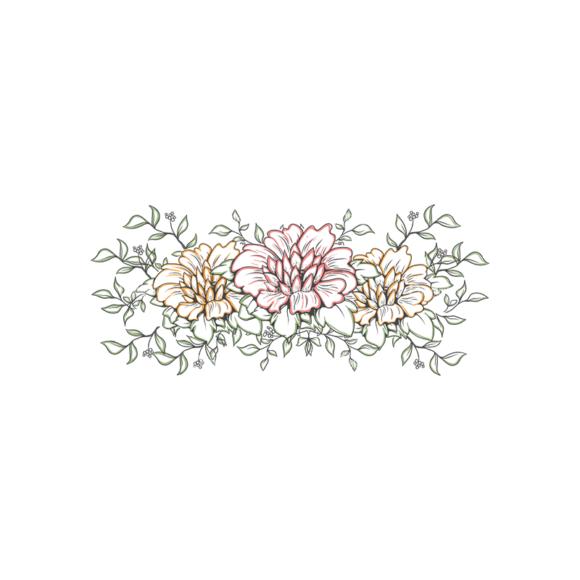 Vector Floral Ornaments 3 Vector Flowers 12 Clip Art - SVG & PNG floral