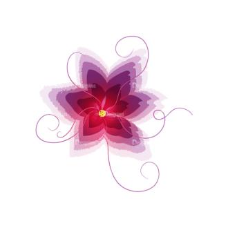 Vector Floral Ornaments 4 Vector Flower 01 Clip Art - SVG & PNG floral