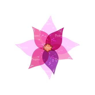 Vector Floral Ornaments 4 Vector Flower 02 Clip Art - SVG & PNG floral