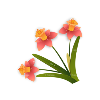 Vector Floral Ornaments 6 Vector Flowers 08 Clip Art - SVG & PNG floral