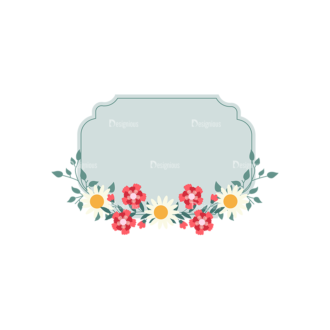Vintage Vector Labels With Flowers Vector Labels 02 Clip Art - SVG & PNG vector