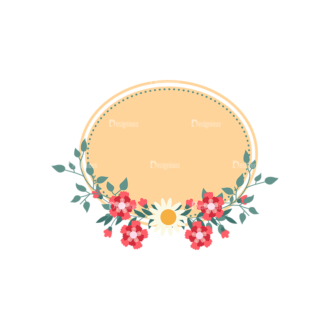 Vintage Vector Labels With Flowers Vector Labels 03 Clip Art - SVG & PNG vector