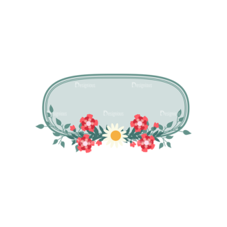Vintage Vector Labels With Flowers Vector Labels 04 Clip Art - SVG & PNG vector