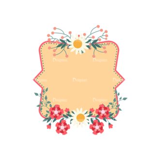 Vintage Vector Labels With Flowers Vector Labels 05 Clip Art - SVG & PNG vector