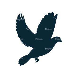 Vintage Wedding Vector Bird Clip Art - SVG & PNG vector