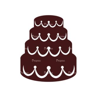 Wedding Vector Elements Set 1 Vector Cake Clip Art - SVG & PNG vector