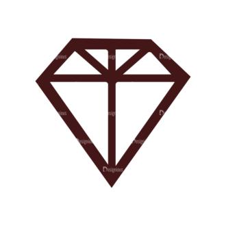 Wedding Vector Elements Set 1 Vector Diamond Clip Art - SVG & PNG vector