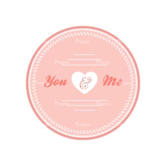 Wedding Vector Set 2 Vector Badges 07 Clip Art - SVG & PNG vector