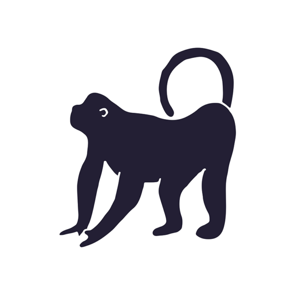 Wild Animals Geometric Vector 2 Vector Gorilla 1