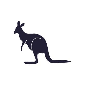 Wild Animals Geometric Vector 2 Vector Kangaroo Clip Art - SVG & PNG vector