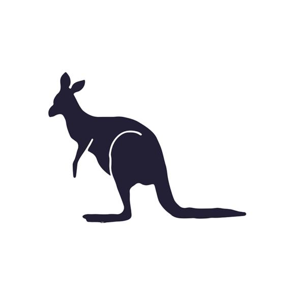 Wild Animals Geometric Vector 2 Vector Kangaroo 1