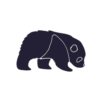 Wild Animals Geometric Vector 2 Vector Panda Clip Art - SVG & PNG vector