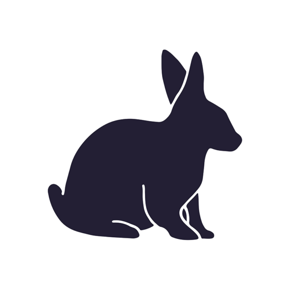 Wild Animals Geometric Vector 2 Vector Rabbit 1