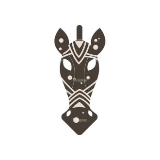 African Elements Horse Mask Clip Art - SVG & PNG vector