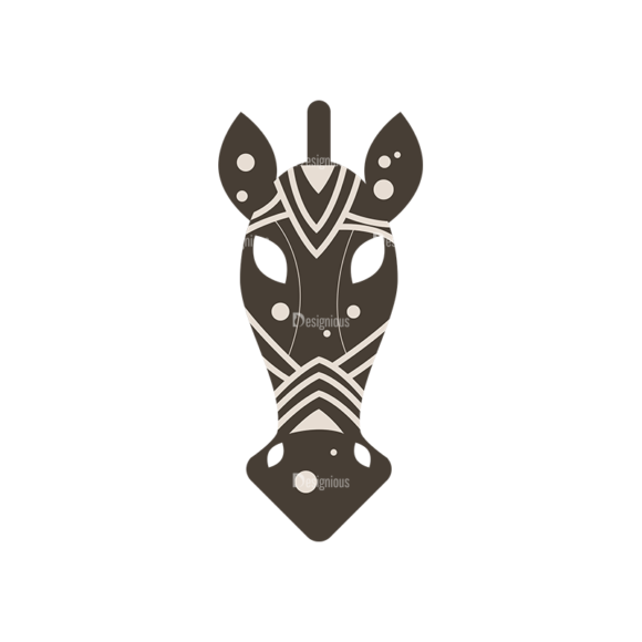 African Elements Horse Mask Clip Art - SVG & PNG vector