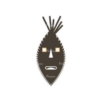 African Elements Mask Clip Art - SVG & PNG vector