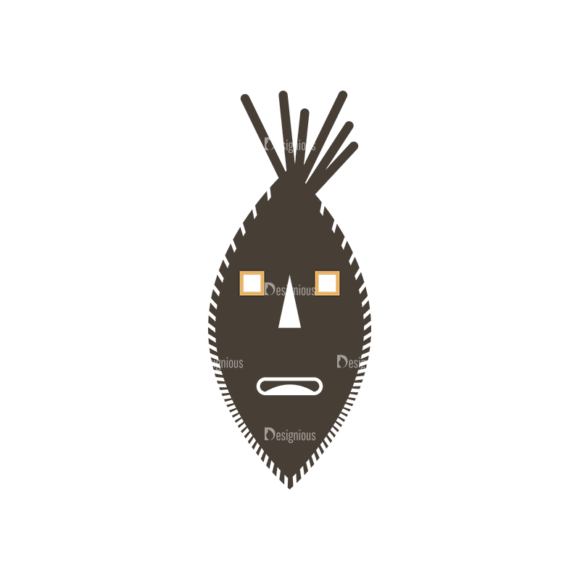 African Elements Mask Clip Art - SVG & PNG vector