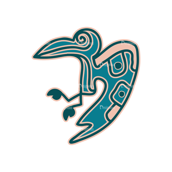 Aztec Elements Eagle Clip Art - SVG & PNG vector