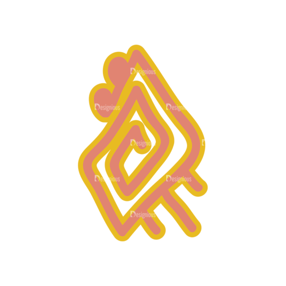 Aztec Elements Sign 03 Clip Art - SVG & PNG vector