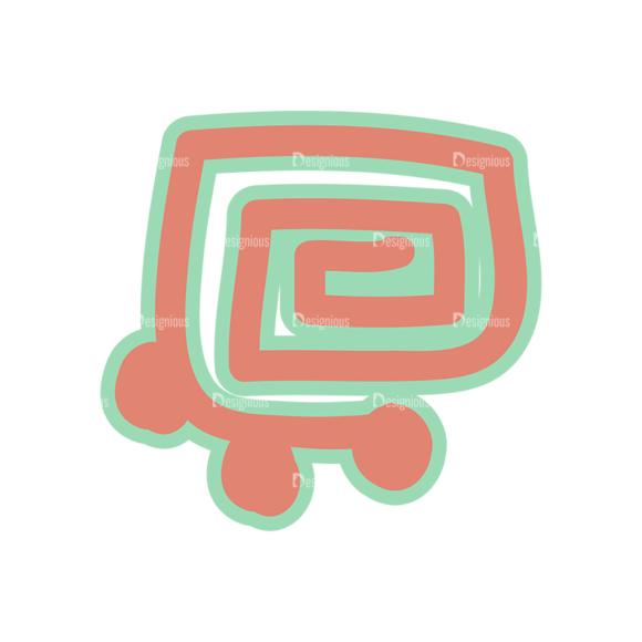 Aztec Elements Sign 07 Clip Art - SVG & PNG vector
