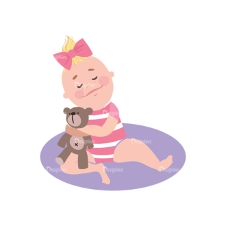 Babies Girl Preview Clip Art - SVG & PNG vector
