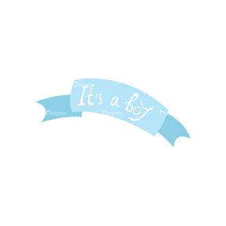 Babies Its A Boy Preview Clip Art - SVG & PNG vector