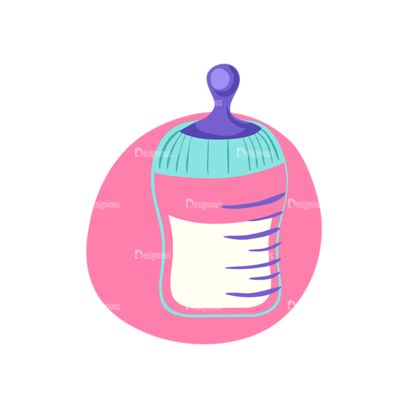 Baby Shower Baby Bottle Preview Clip Art - SVG & PNG vector