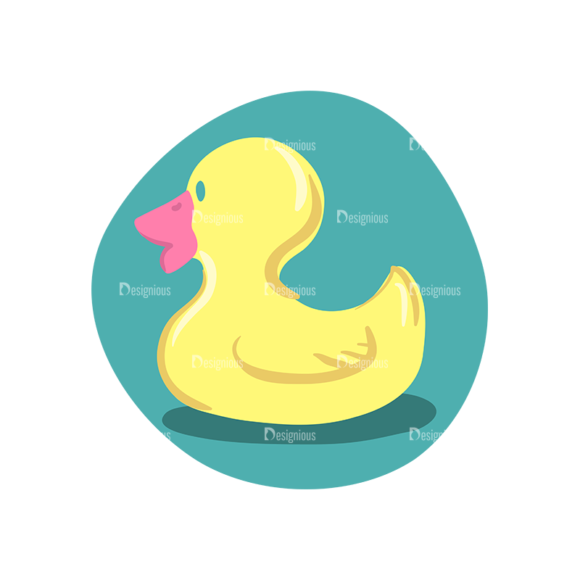 Baby Shower Duck Preview Clip Art - SVG & PNG vector