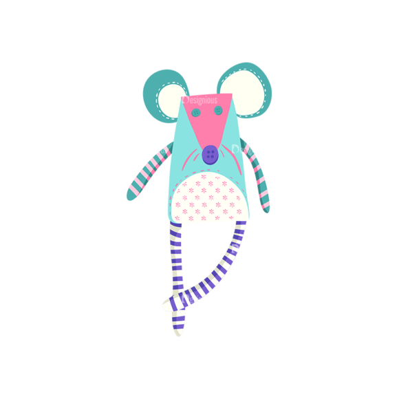 Baby Shower Mouse Toy Preview Clip Art - SVG & PNG vector