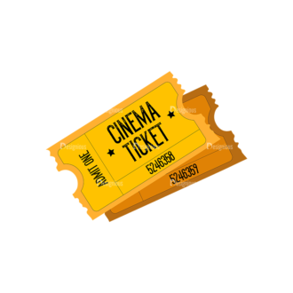 Cinema Cinema Ticket Preview Clip Art - SVG & PNG vector