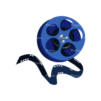 Cinema Film Role Preview Clip Art - SVG & PNG vector