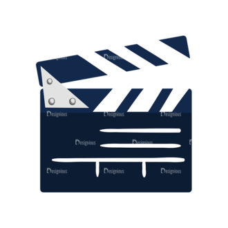 Cinema Movie Clapper Board Preview Clip Art - SVG & PNG vector