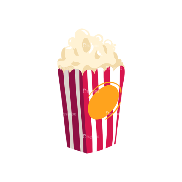 Cinema Popcorn 01 Preview Clip Art - SVG & PNG vector
